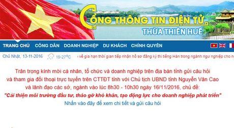 Thua Thien Hue se doi thoai truc tuyen ve moi truong dau tu - Anh 1