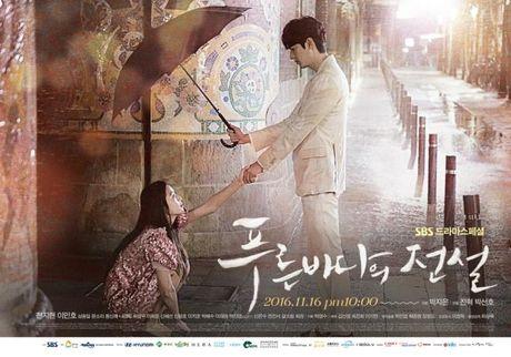 Lee Min Ho va Jun Ji Hyun dep doi trong hop bao Huyen thoai bien xanh - Anh 13
