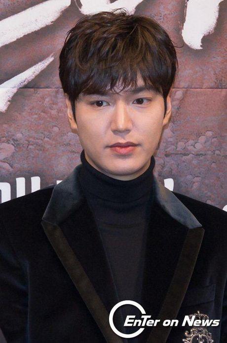Lee Min Ho va Jun Ji Hyun dep doi trong hop bao Huyen thoai bien xanh - Anh 6