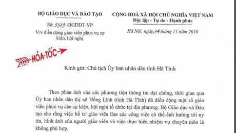 Bo truong GD-DT de nghi Ha Tinh tao dieu kien cho giao vien lam chuyen mon - Anh 1