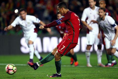 Ronaldo ghi ban dang cap giup Bo Dao Nha de bep Latvia 4-1 - Anh 2