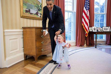 Nhung khoanh khac cuc ky dang yeu cua Tong thong My Barack Obama - Anh 10