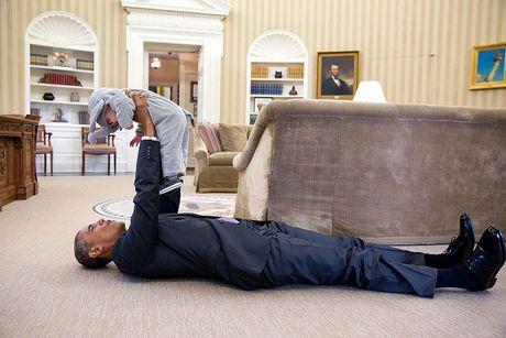 Nhung khoanh khac cuc ky dang yeu cua Tong thong My Barack Obama - Anh 1