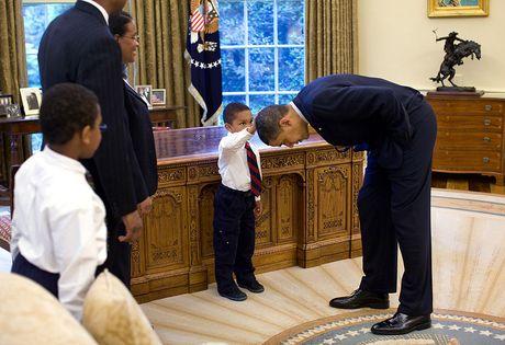 Nhung khoanh khac cuc ky dang yeu cua Tong thong My Barack Obama - Anh 3