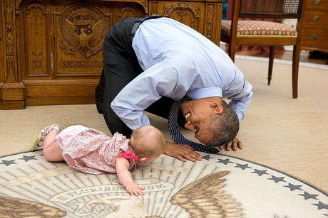 Nhung khoanh khac cuc ky dang yeu cua Tong thong My Barack Obama - Anh 6
