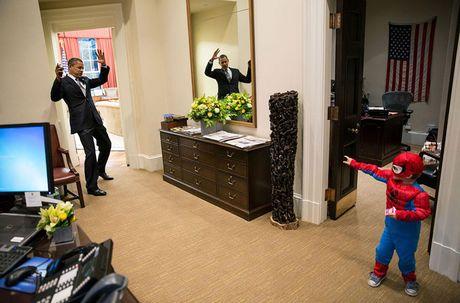 Nhung khoanh khac cuc ky dang yeu cua Tong thong My Barack Obama - Anh 8