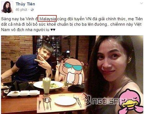 Dang status co vu Cong Vinh, Thuy Tien bi 'nhac kheo' khi nham loi nghiem trong - Anh 1
