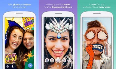 Facebook ra ung dung 'nhai' Snapchat va Prisma - Anh 1