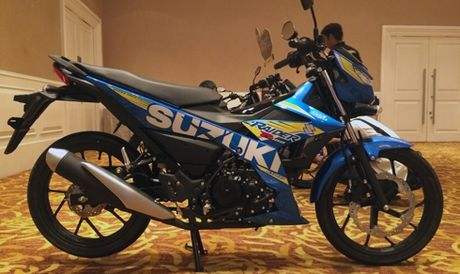 Suzuki Raider phun xang dien tu gia 49 trieu dong - Anh 1