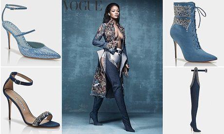 Rihanna tiep tuc 'bat tay' Manolo Blahnik tung BST Boots cho mua mot nay - Anh 2