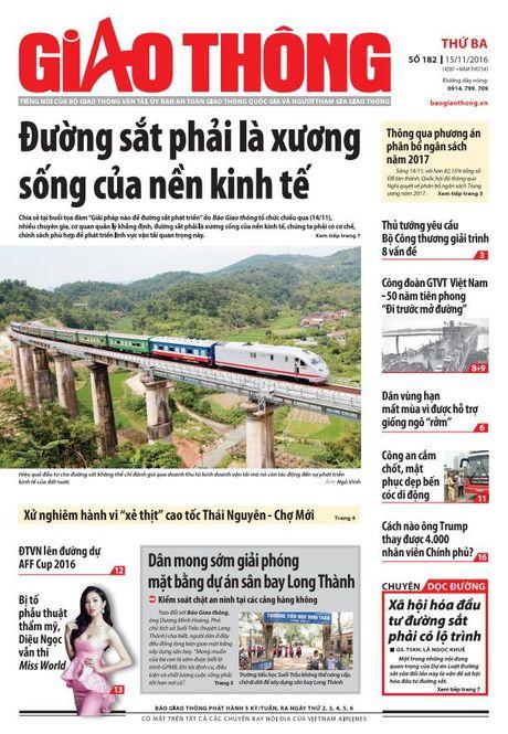 Tin tuc moi nhat, dac sac nhat tren Bao Giao thong 15/11 - Anh 1