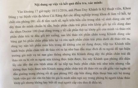 Nhan vien y te tu cat chan giau vao tu: Khong dieu tra them vu viec - Anh 2