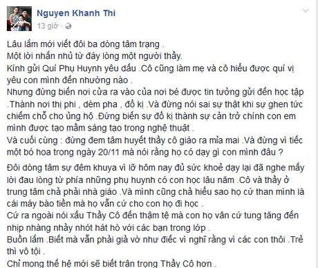 Khanh Thi bat ngo viet 'tam thu' truoc them 20/11 - Anh 2