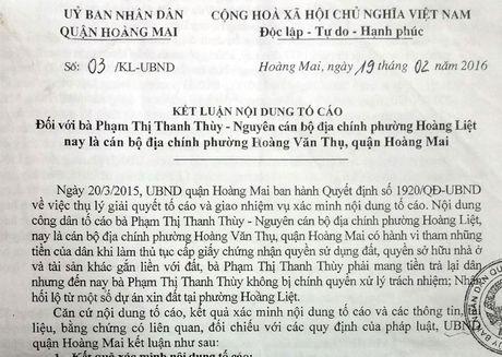 Xu ly can bo co sai pham tai Quan Hoang Mai: Khong de... chim xuong - Anh 1