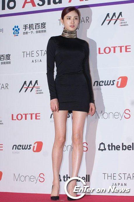Mac vay bo khoe chan dai, Nana noi bat hon ca Park Shin Hye, Yoona, Suzy - Anh 5