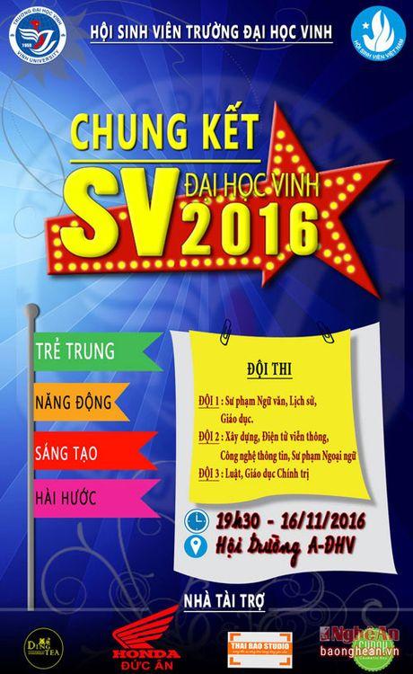Chung ket 'SV Dai hoc Vinh 2016' se dien ra vao toi nay (16/11) - Anh 1