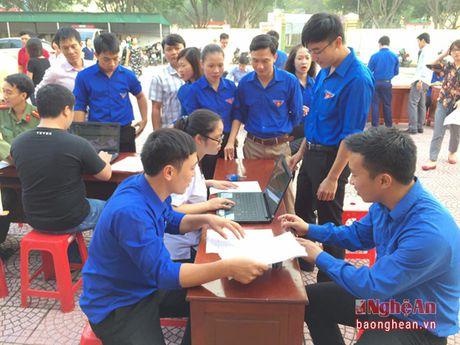 Thi xa Cua Lo: Hon 700 thanh nien tham gia hien mau tinh nguyen - Anh 1