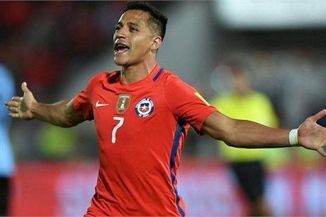 Sanchez lap cu dup, Chile nguoc dong ha Uruguay - Anh 1