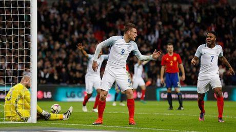Cham diem Anh 2-2 Tay Ban Nha: 'Sieu du bi' Jamie Vardy hoa nguoi hung - Anh 1