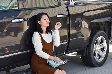 'Kieu nu' Ngoc Lan lan dau khoe bung bau o My - Anh 3
