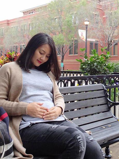'Kieu nu' Ngoc Lan lan dau khoe bung bau o My - Anh 8