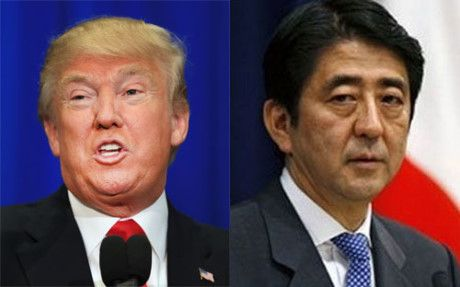 Trump-Abe se ban gi trong cuoc gap dau tien? - Anh 1