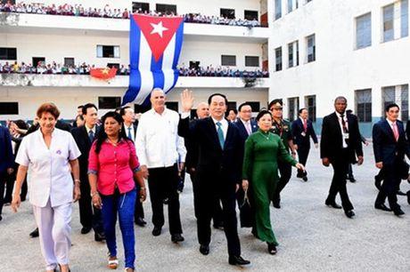 Cac hoat dong cua Chu tich nuoc Tran Dai Quang tai Cuba - Anh 1