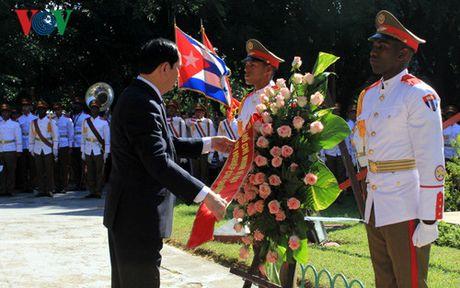 Cac hoat dong cua Chu tich nuoc Tran Dai Quang tai Cuba - Anh 2