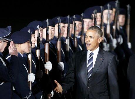Ong Obama chao tam biet ba Merkel - Anh 3