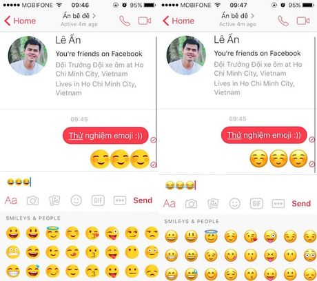 Cach thay the emoji tren Facebook Messenger bang he thong emoji cua iOS - Anh 1