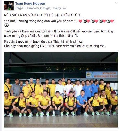 Ca si Tuan Hung hua se xuong toc neu tuyen Viet Nam doat Cup AFF - Anh 2