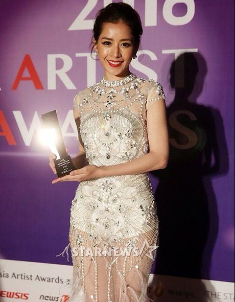 Chi Pu 'mat ngu' vi gianh giai tai Asia Artist Award - Anh 1