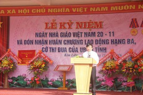 Nghe An: Truong THCS Kim Lien (Nam Dan) don nhan Huan chuong Lao dong hang 3 - Anh 3