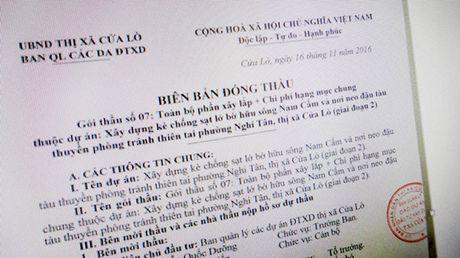 Goi thau so 7 du an xay dung ke chong sat lo bo huu song Nam Cam: Chi 3 nha thau ban dia nop HSDT - Anh 1