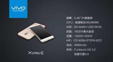 Vivo Xplay 6: Smartphone man hinh cong nhai Galaxy S7 Edge - Anh 2