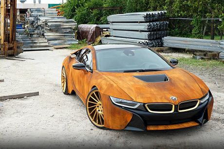 BMW i8 do dan ao ri set cua ca si Austin Mahone - Anh 2