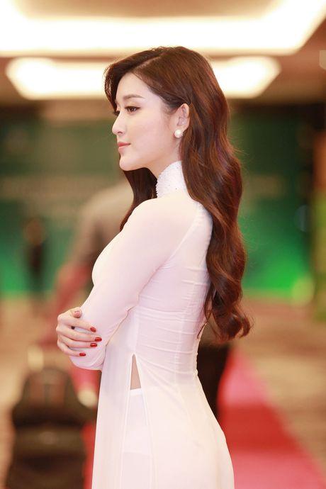 A hau Huyen My dien ao dai trang don tiep Hoang tu Anh - Anh 4