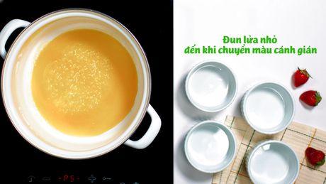 Banh flan sua dau nanh thanh mat, la mieng - Anh 3