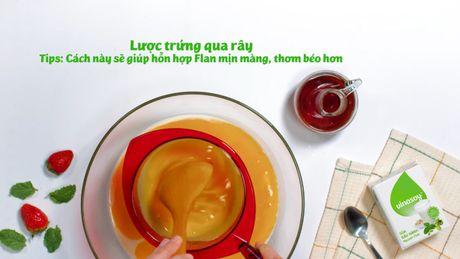 Banh flan sua dau nanh thanh mat, la mieng - Anh 4