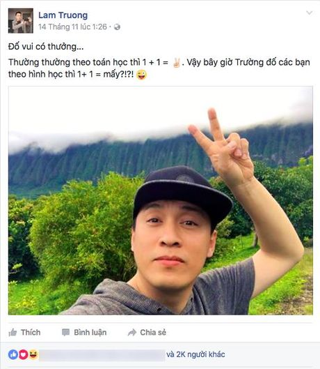 Lam Truong hanh phuc khoe vo moi co bau sau 2 nam ket hon - Anh 1