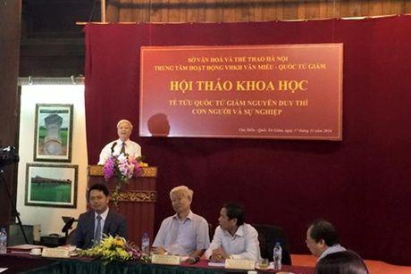 Hoi thao khoa hoc ve Te tuu Quoc Tu Giam Nguyen Duy Thi - Anh 1