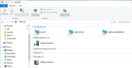 Hien thi thu muc cua My Cloud Mirror tren File Explorer - Anh 5