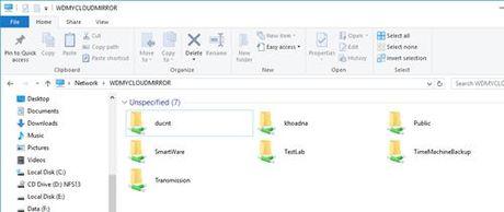 Hien thi thu muc cua My Cloud Mirror tren File Explorer - Anh 6