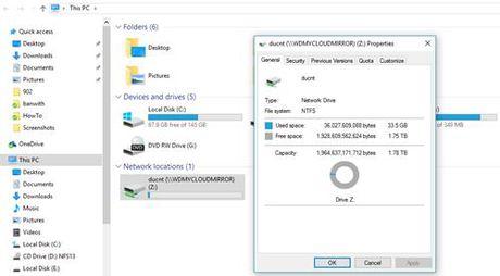 Hien thi thu muc cua My Cloud Mirror tren File Explorer - Anh 9