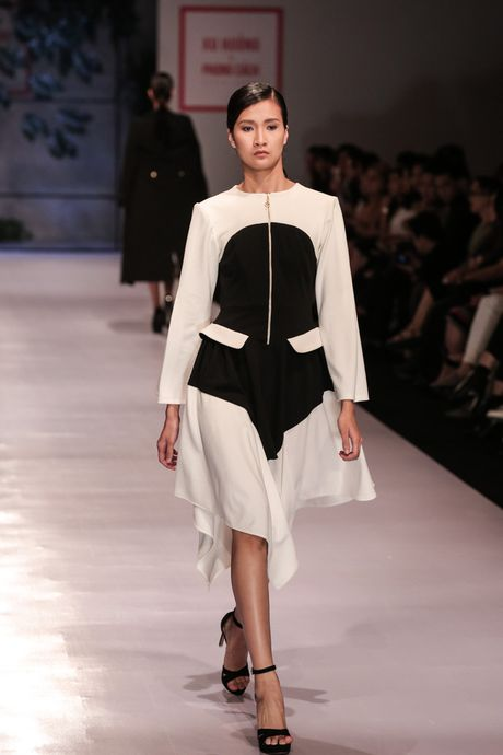 Dan nguoi mau Vietnam's Next Top Model noi bat tren san catwalk ngay hoi ngo - Anh 17
