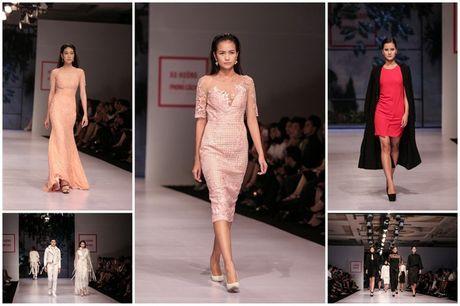 Dan nguoi mau Vietnam's Next Top Model noi bat tren san catwalk ngay hoi ngo - Anh 1