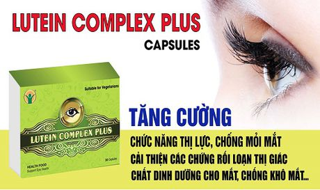 Lutein Complex Plus – duong chat ngan ngua thoai hoa diem vang, duc thuy tinh the - Anh 1