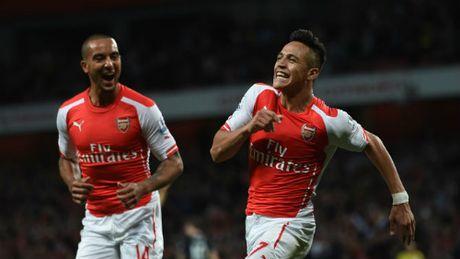 """Arsenal dau MU: Sanchez tran an Wenger, Walcott lo """"ho de"""" - Anh 3"""