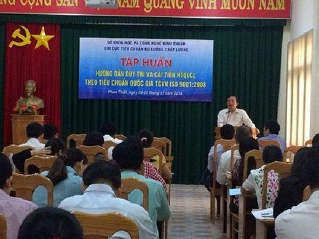 Binh Thuan: Lanh dao chat luong va Thu ky ISO tap huan ve ISO 9001:2008 - Anh 1