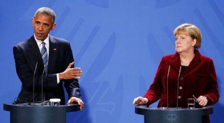 Tai Berlin, Tong thong Obama khuyen ong Trump cung ran voi Nga - Anh 1